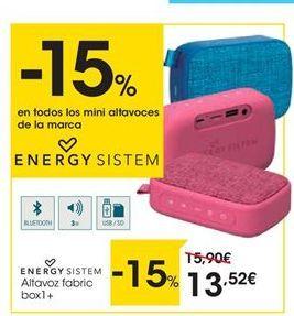 Oferta de Altavoces bluetooth Energy Sistem por 13,52€