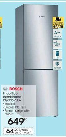 Oferta de Frigorífico combi Bosch por 649€