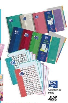Oferta de Cuadernos Oxford por 4,59€