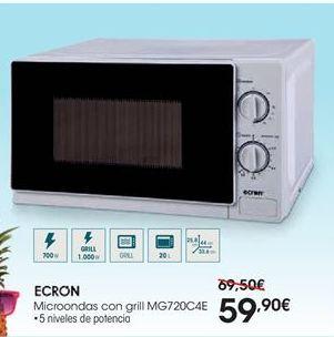 Oferta de Microondas Ecron por 59,9€
