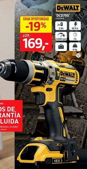 Oferta de 'DCD795' Dewalt por 169€