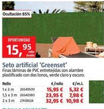 Oferta de Seto artificial por 15,95€