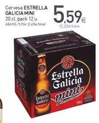 Oferta de Cerveza Estrella Galicia por 5,59€