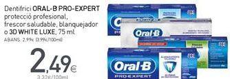 Oferta de Dentífrico Oral B por 2,49€