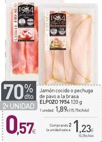 Oferta de Jamón cocido extra El Pozo por 1,89€