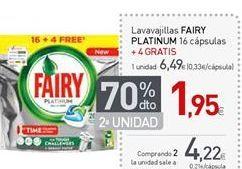 Oferta de Detergente lavavajillas Fairy por 6,49€