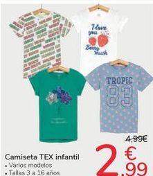 Oferta de Camiseta TEX infantil por 2,99€