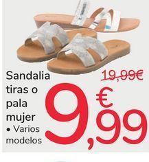Oferta de Sandalia tiras o pala mujer por 9,99€
