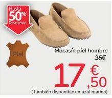 Oferta de Mocasín piel hombre por 17,5€