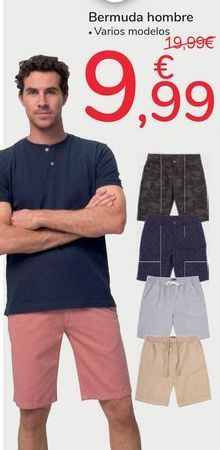 Oferta de Bermudas hombre por 9,99€