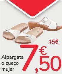 Oferta de Alpargata o zueco mujer por 7,5€