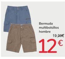 Oferta de Bermuda multibolsillos hombre por 12€