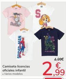 Oferta de Camiseta licencias oficiales infantil por 2,99€