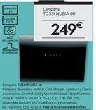 Oferta de Campana TOSSI NUBIA 60 por 249€