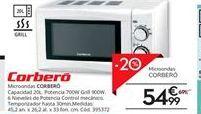 Oferta de Microondas Corberó por 54,99€
