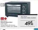 Oferta de Mini horno Far por 49,99€