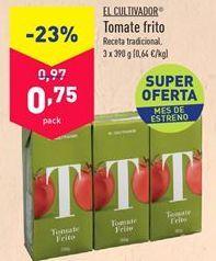 Oferta de Tomate frito El Cultivador por 0,75€