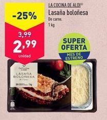 Oferta de Lasaña por 2,99€