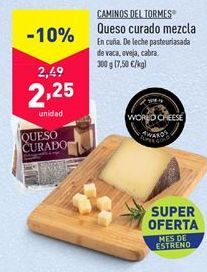 Oferta de Queso mezcla curado Camino del Tormes por 2,25€