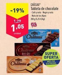 Oferta de Chocolatinas Chateu por 1,05€