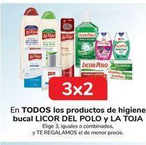 Oferta de En TODOS los productos de higiene bucal LICOR DEL POLO y LA TOJA por