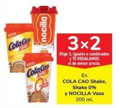 Oferta de En COLA CAO Shake, Shake 0% y NOCILLA Vaso 200 ml. por