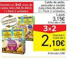 Oferta de Caldo de pollo, pescado o cocido GALLINA BLANCA  por 3,15€