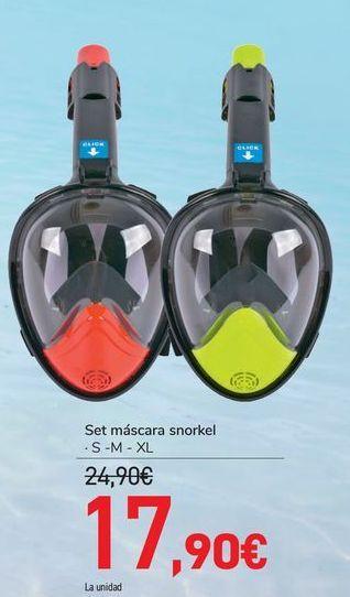Oferta de Set máscaras Snorkel  por 17,9€