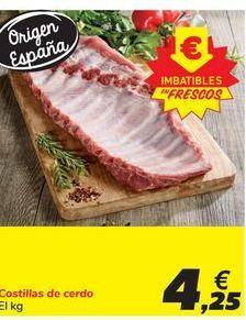 Oferta de Costillas de cerdo por 4,25€
