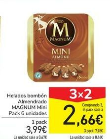 Oferta de Helados bombón Almendrado MAGNUM Mini por 3,99€