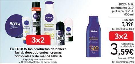 Oferta de En TODOS los productos de belleza facial, desodorantes, cremas corporales y de manos NIVEA. por