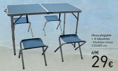 Oferta de Mesa plegable + 4 taburetes  por 29€