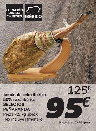 Oferta de Jamón de cebo ibérico 50% raza ibérica SELECTOS PEÑARANDA por 95€