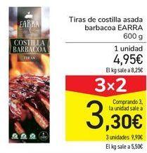 Oferta de Tiras de costillas asadas barbacoa EARRA  por 4,95€