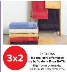 Oferta de En TODAS las toallas y alfombras de baño de la línea BATH. por