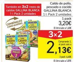Oferta de Caldo de pollo, pescado o cocido GALLINA BLANCA por 3,2€