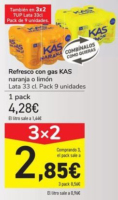 Oferta de Refresco con gas KAS  por 4,28€