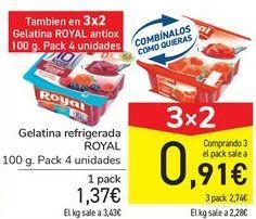 Oferta de Gelatina refrigerada ROYAL  por 1,37€