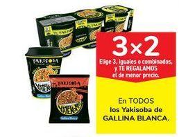 Oferta de En TODOS los Yakisoba de GALLINA BLANCA por