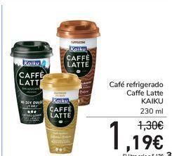 Oferta de Café refrigerado Caffe Latte Kaiku  por 1,19€
