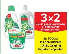 Oferta de En TODOS los detergentes ARIEL Original líquido o cápsulas  por
