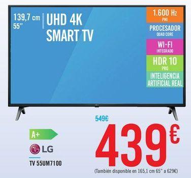 Oferta de TV 55UM7100 LG por 439€