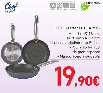 Oferta de LOTE 3 Sartenes THARSIS  por 19,9€