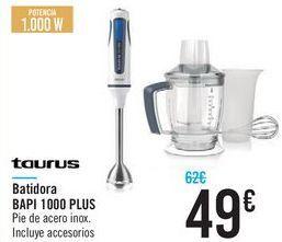 Oferta de Batidora BAPI 1000 PLUS Taurus  por 49€