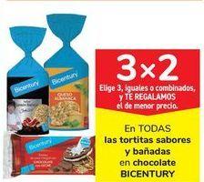 Oferta de En TODAS las tortitas sabores y bañadas en chocolate BICENTURY por