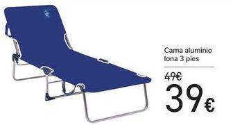 Oferta de Cama aluminio lona 3 pies  por 39€