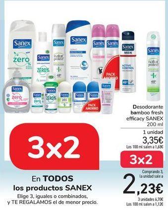 Oferta de En TODOS los productos SANEX por