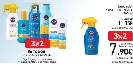 Oferta de En TODOS los solares NIVEA.  por