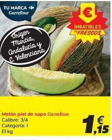 Oferta de Melón piel de sapo Carrefour por 1,15€