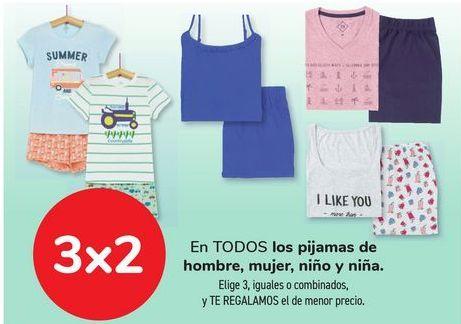Oferta de En TODOS los pijamas de hombre, mujer, niño y niña. por